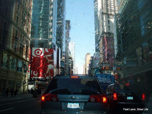 Driving Between Skyscrapers